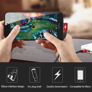 Image 3 - Baseus携帯ゲーム可逆マイクロusbケーブルxiaomi redmi 4X注4 5プラスのusbデータケーブルs6 usb充電ケーブル