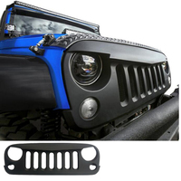 Free Shipping!!! Front Matte Black Angry Bird Grille Grid Grill for Jeep Wrangler Rubicon Sahara Jk 2007 2016