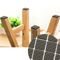 12 pces móveis pés esteira pegajosa almofada pegajosa proteger piso de madeira zero quente