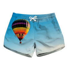 Hot Air Balloon Print Women s Sexy Hot Scanties Summer Casual Floral Beach  Drawstring Women Streetwear Clothing Trunks da12ce688371