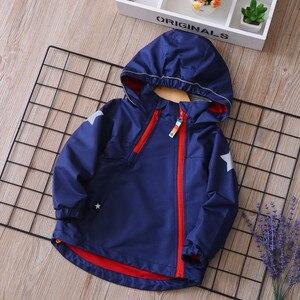 Image 2 - À prova d água Moda de Algodão Com Capuz Casaco de Criança Bebê Meninas Meninos Jaquetas Impresso Polar do Velo Casacos Crianças Para 2 9 Anos velho