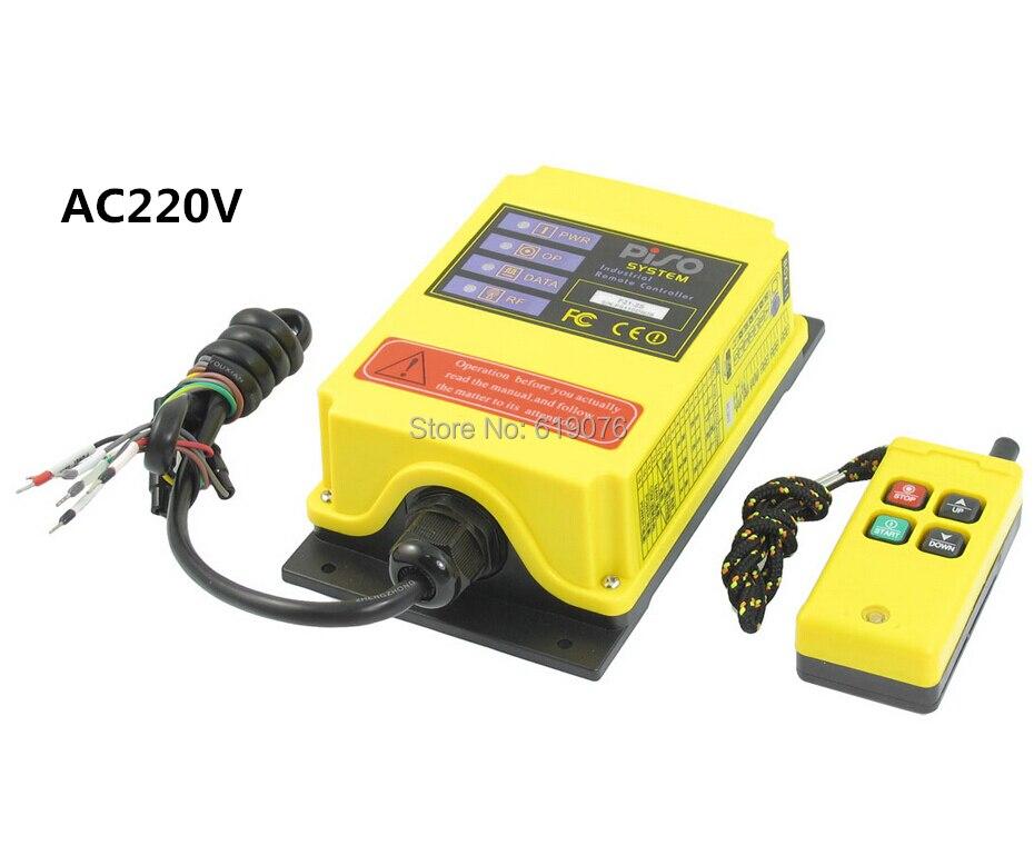 ФОТО AC220V  4 Channels Hoist Crane Radio Remote Control System FS21-S