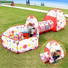 3pc/Set Baby Playpen Tunnel House Children Crocks kids Toys Baby Ball Pit Pool Tent for Children Toy Ball Pool Ocean Ball Toys portable baby playpen indoor pop up playtent ball pool fencing for children kids playpen pool for ocean balls christmas gift