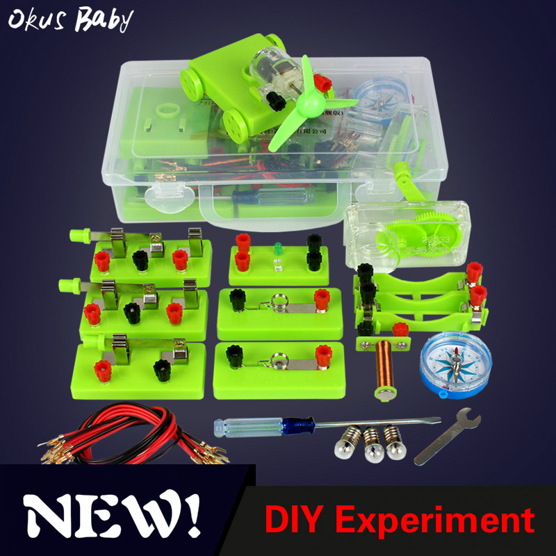 2019 Newest Physical Electricity Experiment Box Door Electrical Circuit Experiment Set Science Education Toy