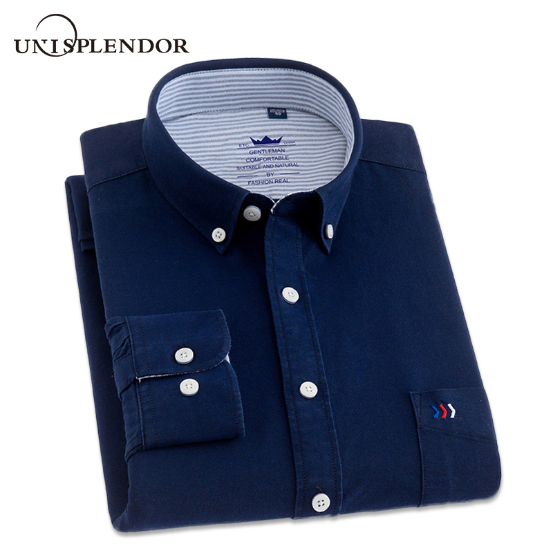 2018 Men Dress Shirts Business Long Sleeve Plus Size Men's Shirts Male Casual Shirt Man 100% Cotton Shirt Spring Autumn YN10230