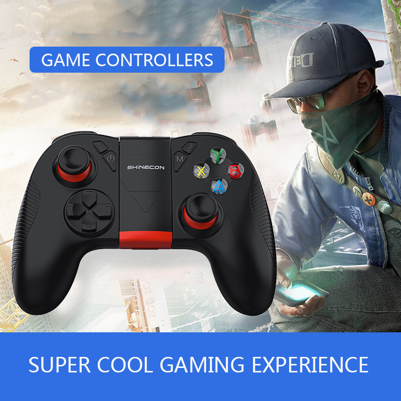 SC-B04 Bluetooth 2.4G Wireless Gamepad Eat Chicken Game Controller With Vibration Mobile Phone Clip Support IOS Android  PC