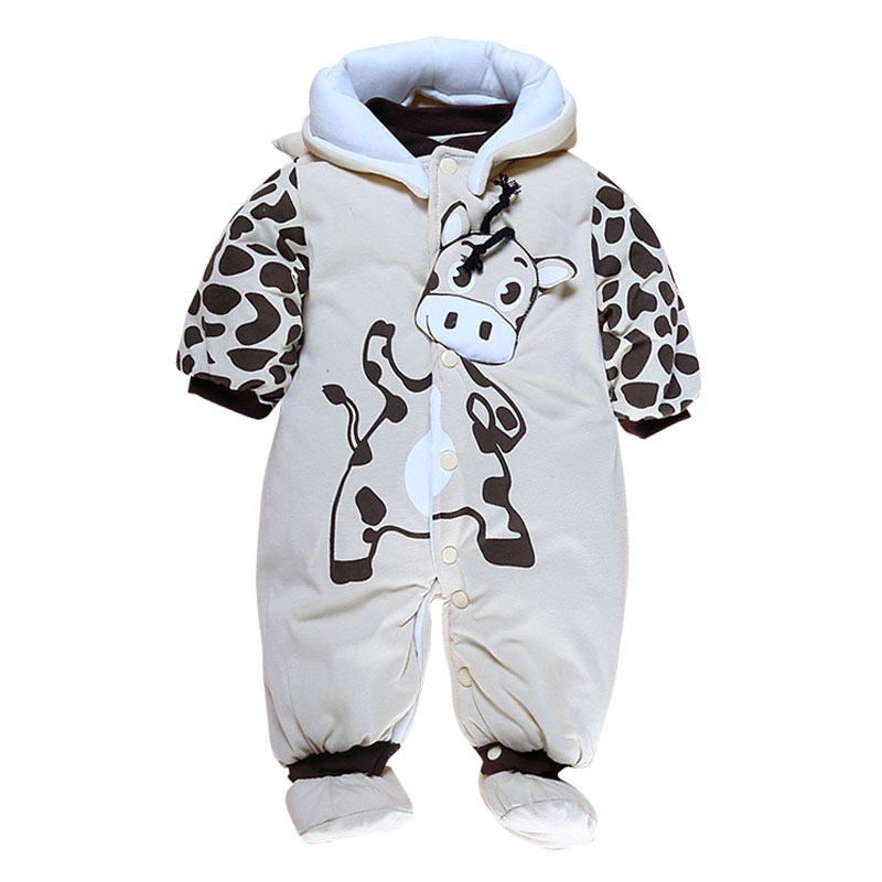 Baby Rompers Winter Jumpsuit Thick Romper For Boys Clothes Warm Newborn Baby Girls Clothing Infant Bebe Costumes winter baby rompers organic cotton baby hooded snowsuit jumpsuit long sleeve thick warm baby girls boy romper newborn clothing