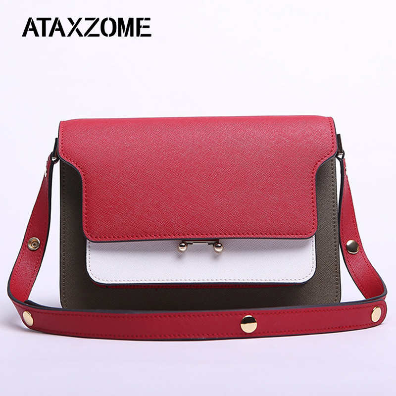 ATAXZOME Genuine Leather Fashion lady Casual Mixed Colors Small square Tote Cowhide Crossbody Shoulder Bags Womans Organ BagATAXZOME Genuine Leather Fashion lady Casual Mixed Colors Small square Tote Cowhide Crossbody Shoulder Bags Womans Organ Bag