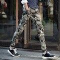 Мужчины камуфляжные штаны 2016 мода марка военный бегунов штаны шаровары свободного покроя брюки-карго тактические брюки