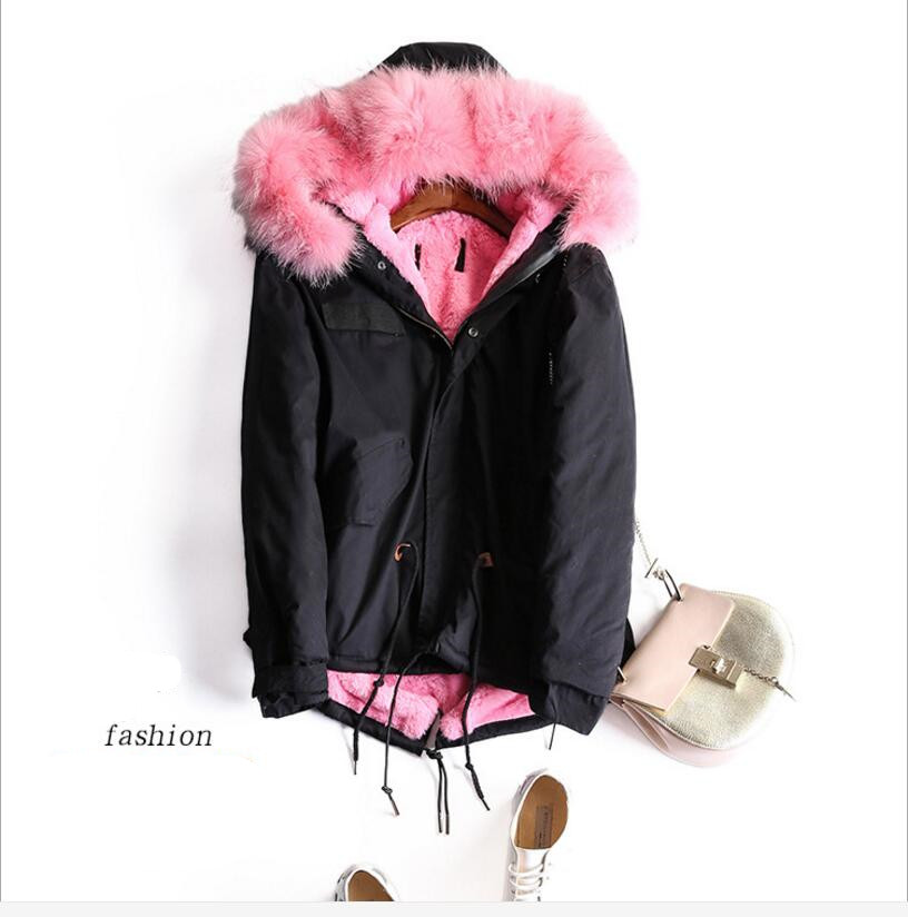 2016 Winter Jacket Women Coat Warm Detachable Lining Big Raccoon Fur Collar Hooded Army Green Brand Design Parka Outwear kohuijoos 3xl winter women army green large raccoon fur collar hooded coat warm detachable natural fox fur lining parka coats