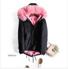 2016 Winter Jacket Women Coat Warm Detachable Lining Big Raccoon Fur Collar Hooded Army Green Brand Design Parka Outwear