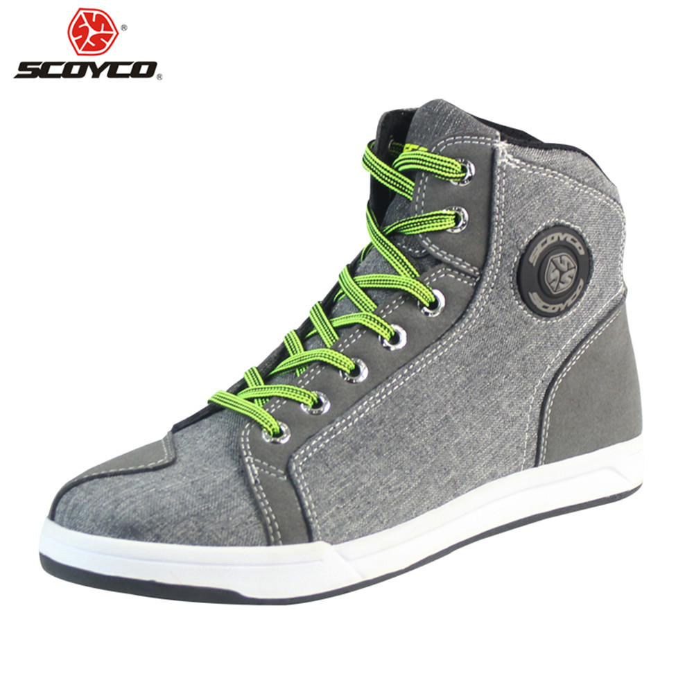 SCOYCO Motorcycle Boots Stivali Botas Moto Motosiklet Bot Mens Biker Shoes Motociclista Bottes Racing P636985 City Moto Shoes-in Motocycle Boots from Automobiles & Motorcycles    1