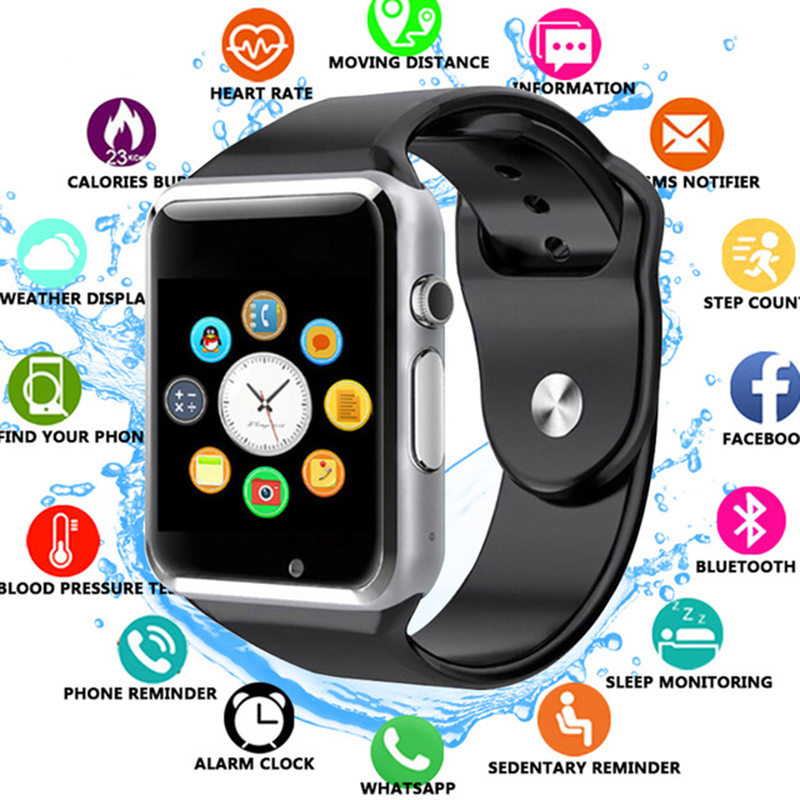 Smart Watch A1 for children men women android Bluetooth Smartwatch With camera Support call music Photography SIM TF card & DZ0 1