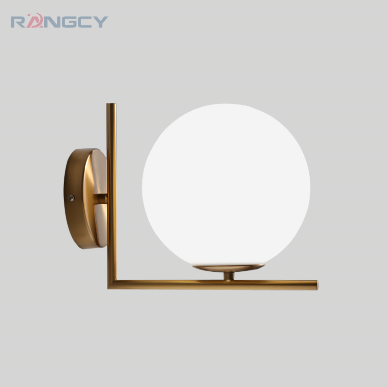 Modern Globe Wall Lights&Lamparas De Pared Iron Bedroom Bedside Ball Wall Lamps Bathroom Light Wall Sconce Lighting Fixture bedside wooden wall lamp wood glass aisle wall lights lighting for living room modern wall sconce lights aplique de la pared
