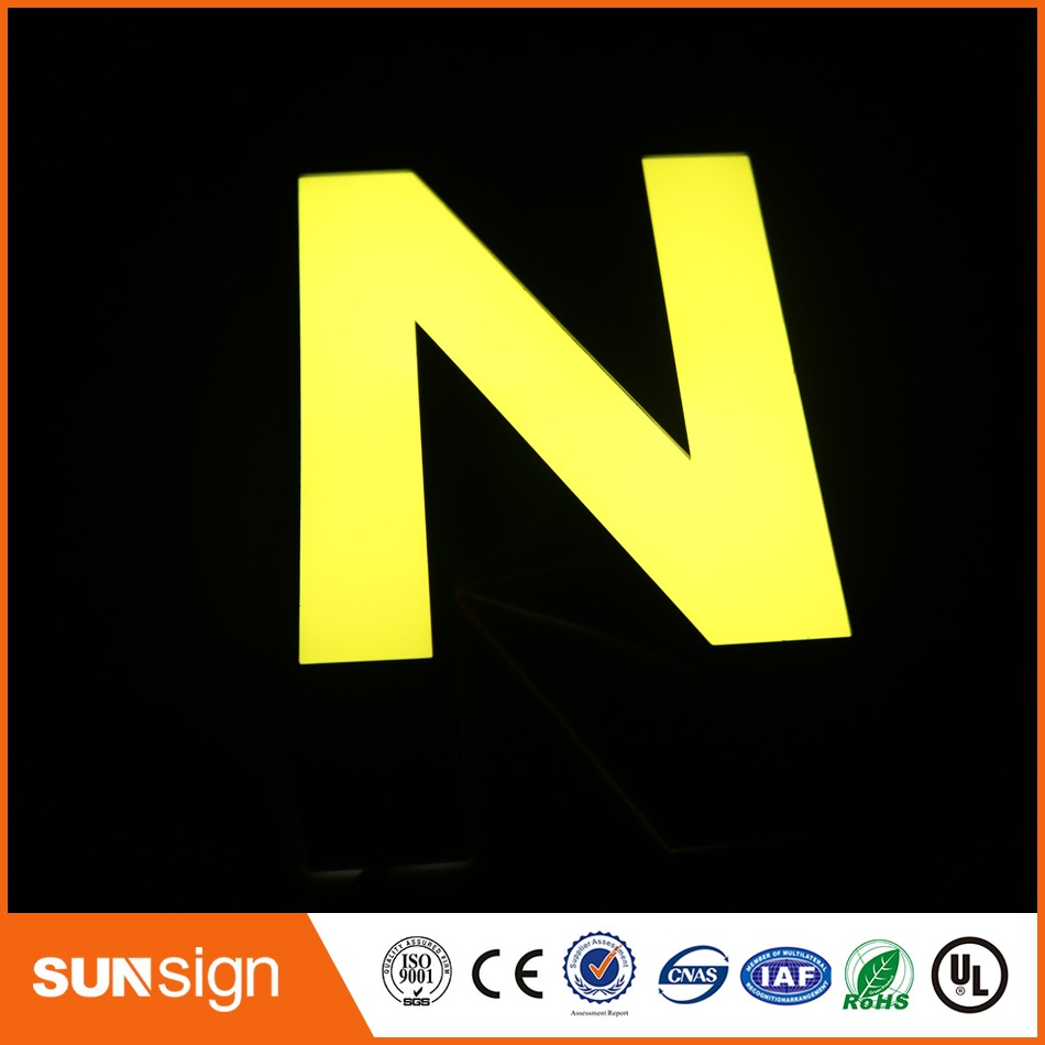 Custom frontlit stainless steel led lettersCustom frontlit stainless steel led letters