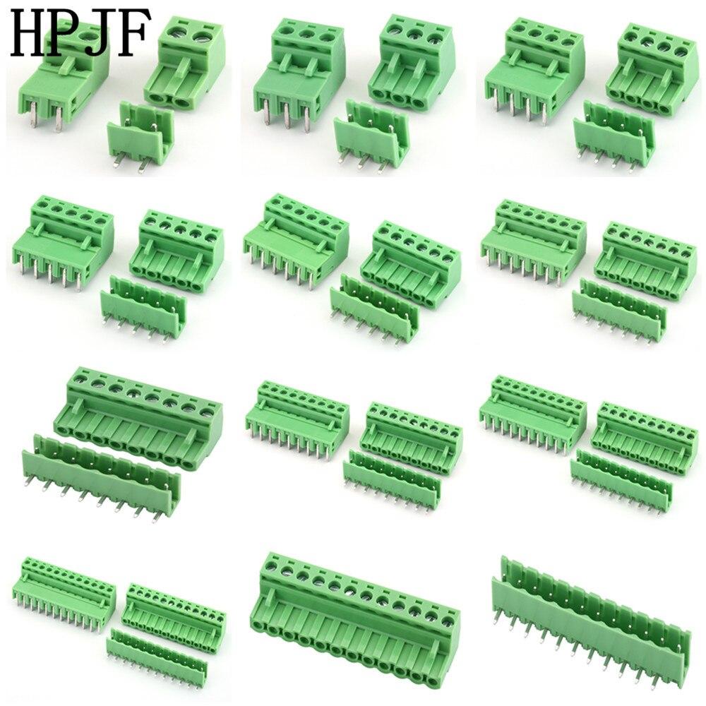Клемма с прямым углом поворота 2EDG5.08 2/3/4/5/6/7/8/9/10/12 контактный разъем типа 300 В 15A 5,08 мм|screw terminal block|terminal blockterminal block plug - AliExpress