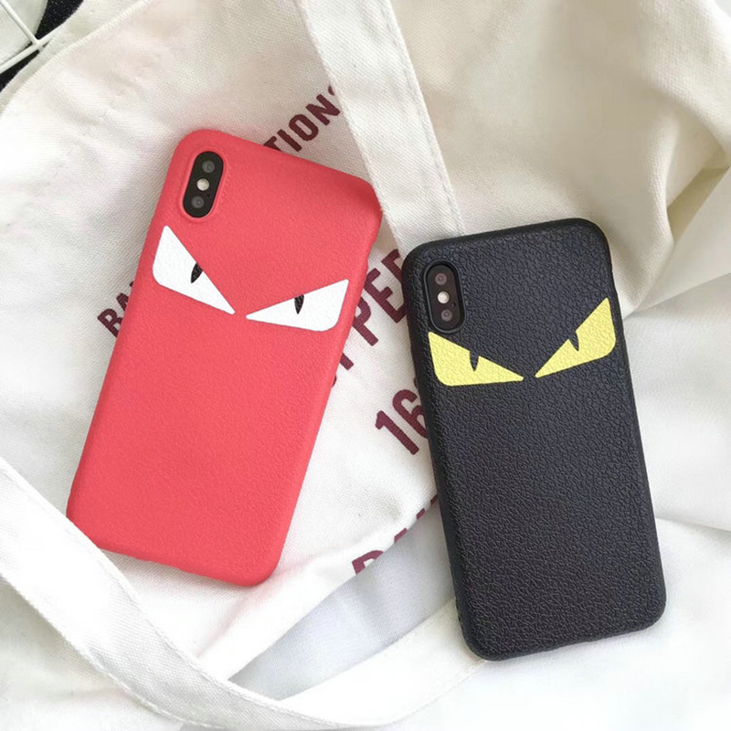 Big Eyes Little Devil Classic Red Black Couple Silicone Soft Cover Iphone 6 6Plus 7 7Plus 8 8Plus X Phone Cases