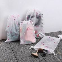 Transparent Animal EVA Drawstring Bag Travel Accessories Storage Portable For Cloth Women Waterproof Luggage Packing Case