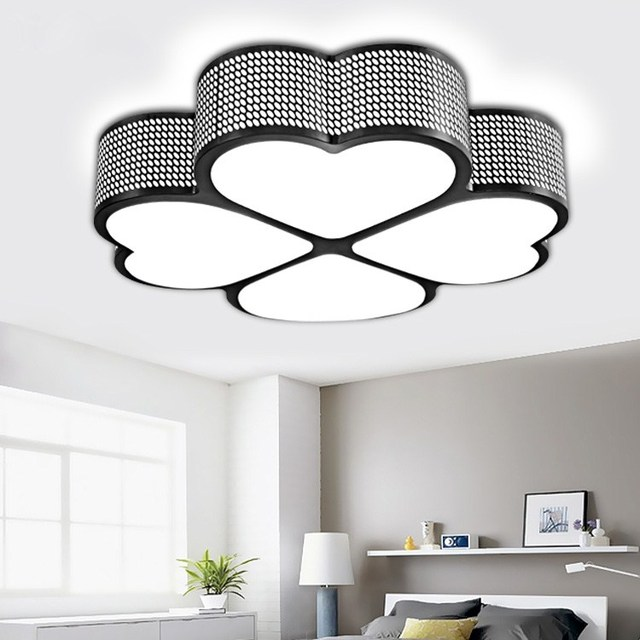 Modern Ceiling LED Study Ceiling Lamps Warm Bedroom Lamp Lights Restaurant  Romantic Wedding Living Room Ceiling