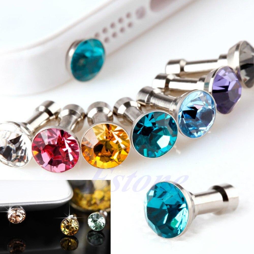 Earphone Headphone Diamonds Dust Plug Dust Cap 3.5mm Crystal
