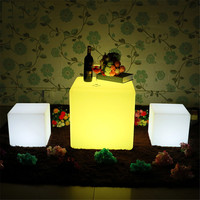 Jiaderui RGB USB Rechargeable LED Night Light With Remote Control Outdoor LED Cube Chair Bar KTV