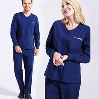 4 Color Women and Men Long Sleeve Medical Clothing Nurse Outfits Nursing Scrubs Uniform Work Clothes Scrub Suit Dentist Workwear