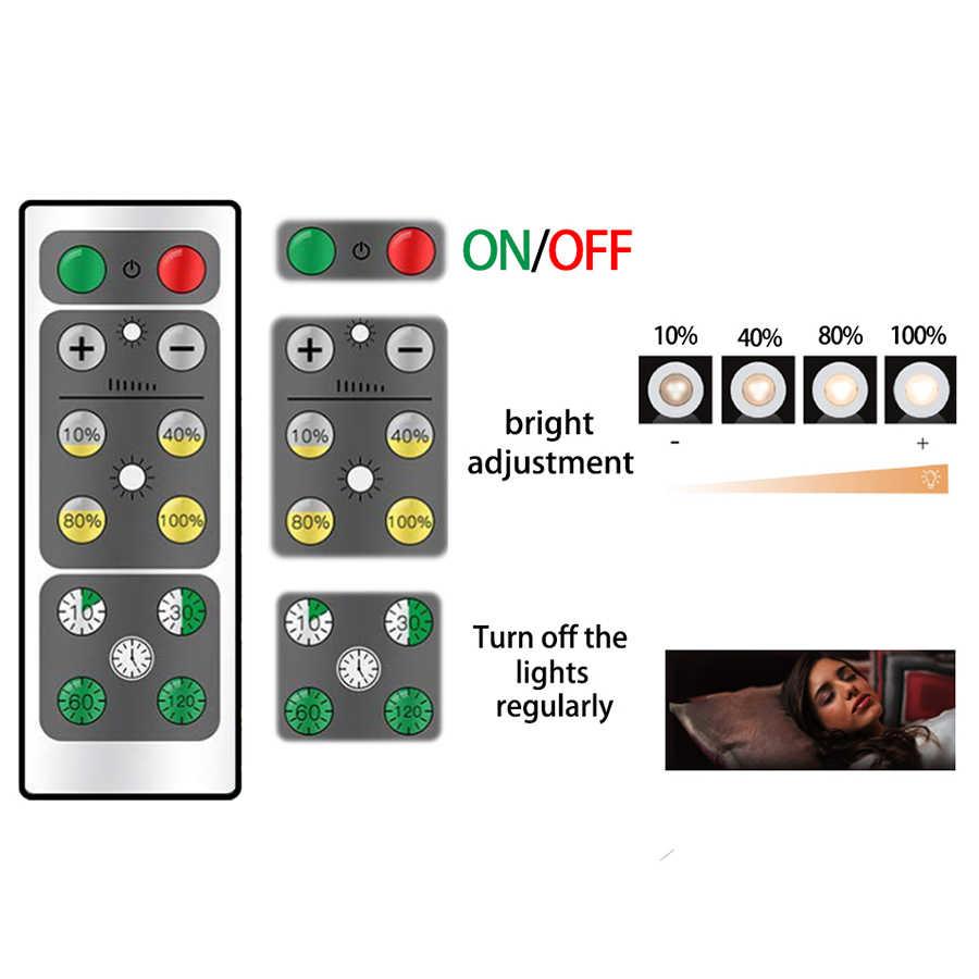 무선 디 밍이 가능한 터치 센서 led 부엌 캐비닛 조명 led 퍽 조명 닫기 옷장 계단 복도 밤 램프