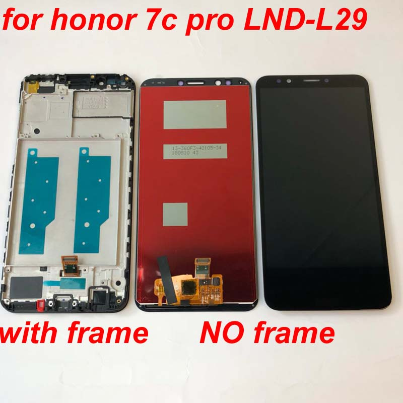 High Quality NEW For Huawei Honor 7C LND-AL30  honor 7c pro LND-L29 LCD Display + Touch Screen Digitizer Assembly With Frame