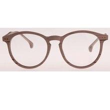 2017 Men Women Imitation wood Retro Nerd Glasses Clear Lens Eyewear Unisex Retro Eyeglasses Spectacles