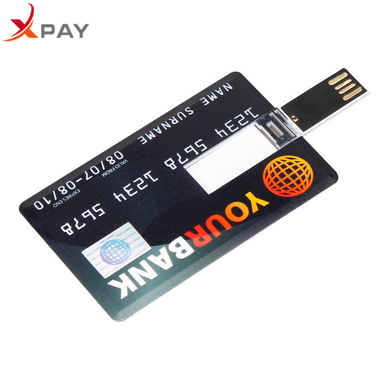Image 2 - Wholesale Credit Card USB Flash 128GB USB 2.0 flash stick 32GB Pendrive memory stick 64GB real capacity 4GB 8GB 16GB free LOGO-in USB Flash Drives from Computer & Office