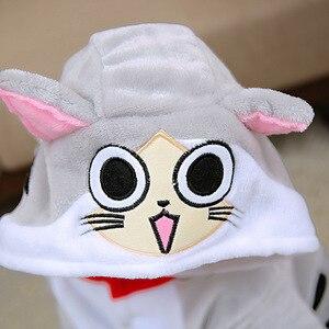 Image 4 - kigurumi New Hooded Children Pajamas Winter Flannel Cartoon Cat   Kids Boys Girls Pijamas Baby Cosplay Pyjamas Sleepwear Onesies