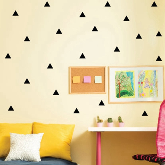 Triangles Wall Sticker Kids Room Wall Decoration / Gold Triangles Wall Decal  Nursery Wall Art Decor