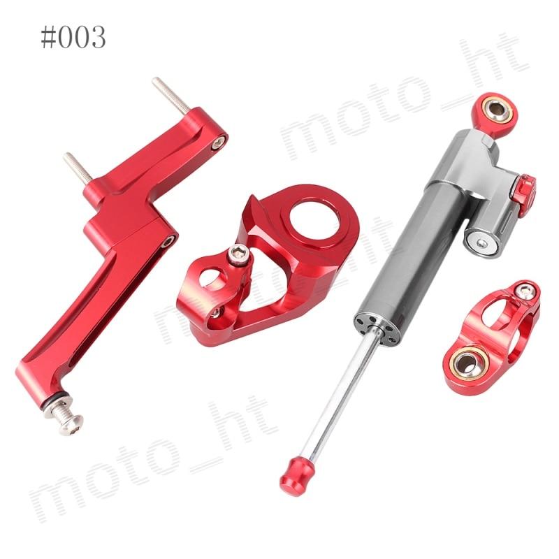 ФОТО Anodized Aluminum Steering Damper Stabilizer Bracket Mounting Kit Safety Control for SUZUKI Hayabusa GSX1300R 1998 - 2016