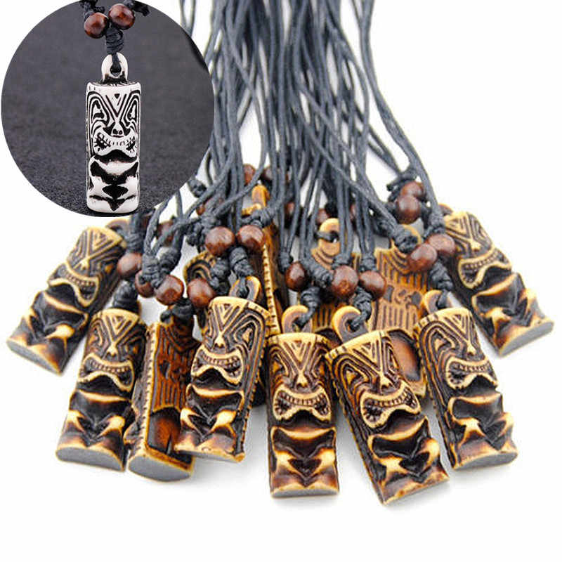 Wholesale 12pcs Imitation Yak Bone Carved New Zealand Maori Tiki Totem Charms Pendants Necklaces Amulet Yn413 Pendant Necklace Yak Bonebone Carving Aliexpress