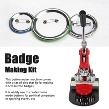Badge-Maker-Machine Button-Press-Cutter Button-Making-Kits Circle 1000 32mm/58mm