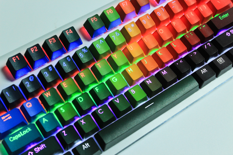 NEW ARRIVAL 108 Keys Keycaps Thickening PBT Double Shot Backlight Rainbow Keycap For Cherry MX Switch Mechanical Keyboard