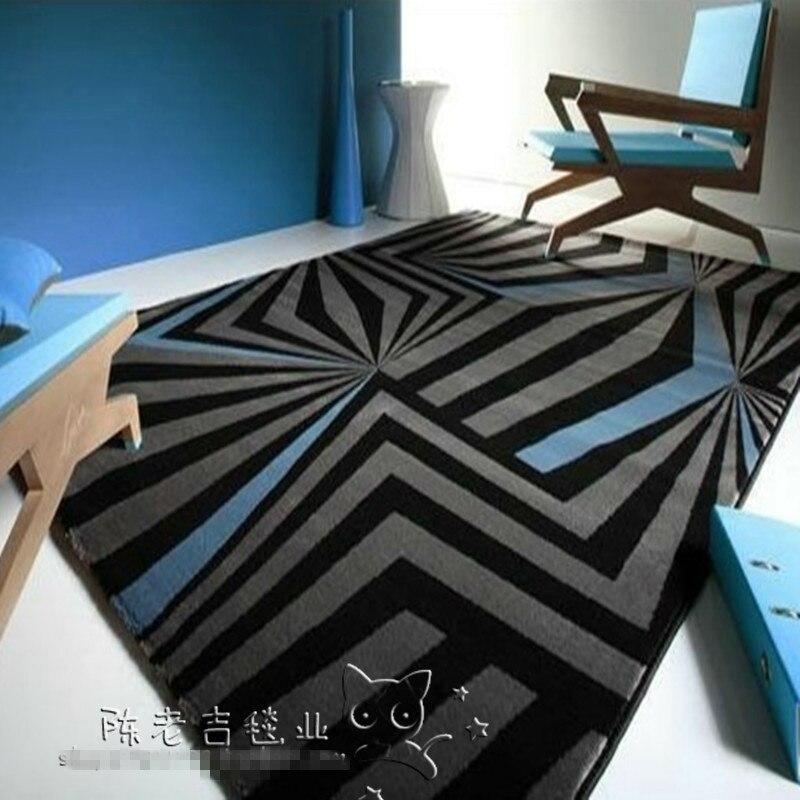 Nouveauté tapis acrylique artisanal abstrait gris tapis et tapis Bape tapis de bain