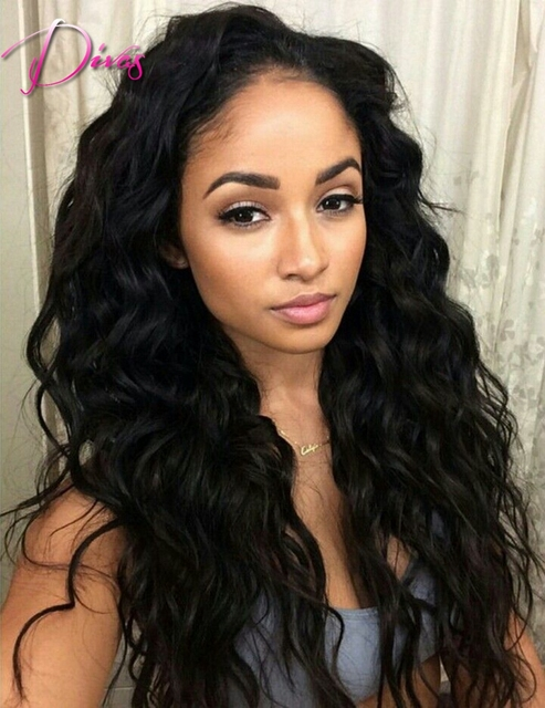 100% Unprocessed 6A Indian virgin hair front lace wig & full lace wig glueless human hair wigs for black women