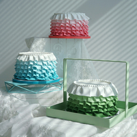 6inch shirt artificial fondant cake models in clay Tiffany blue/pink/green for store showcase photography props