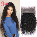 GEM Malaysian Virgin Hair 360 Lace Frontal Closure Malaysian Water Wave Hair Pre Plucked 360 Lace Frontal Closure With Baby Hair
