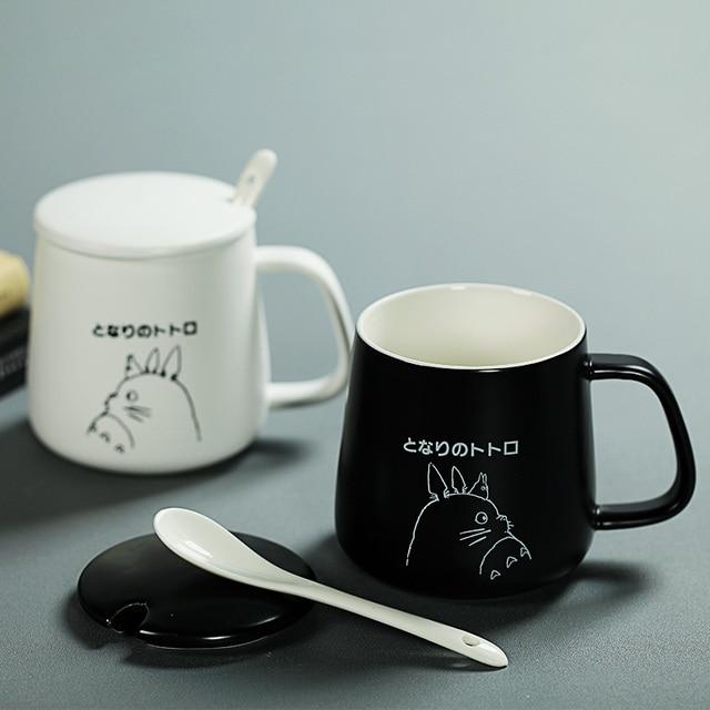 1pc simple style elegant matte ceramic mug with white interior