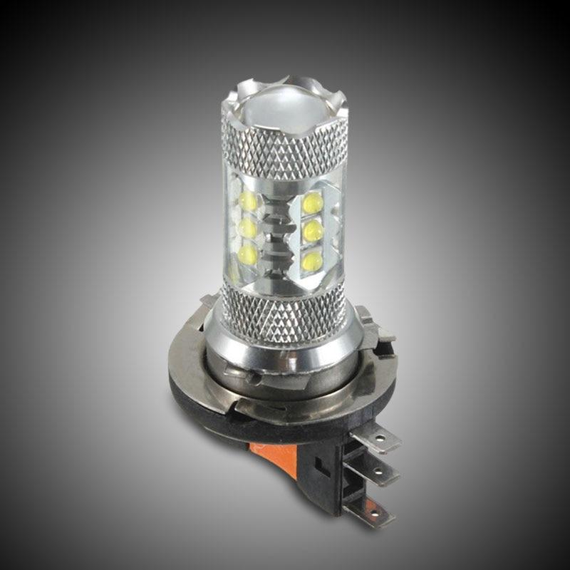 Vehemo H15 80W Car Vehicle 16 LED White Bulb Fog DRL Driving Light Lamp For VW Golf
