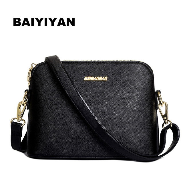 2016 NEW Fashion Lady Temperament Pure Color PU Leather Shoulder Shell Bag Candy Color Fresh Small Women Shoulder Bag
