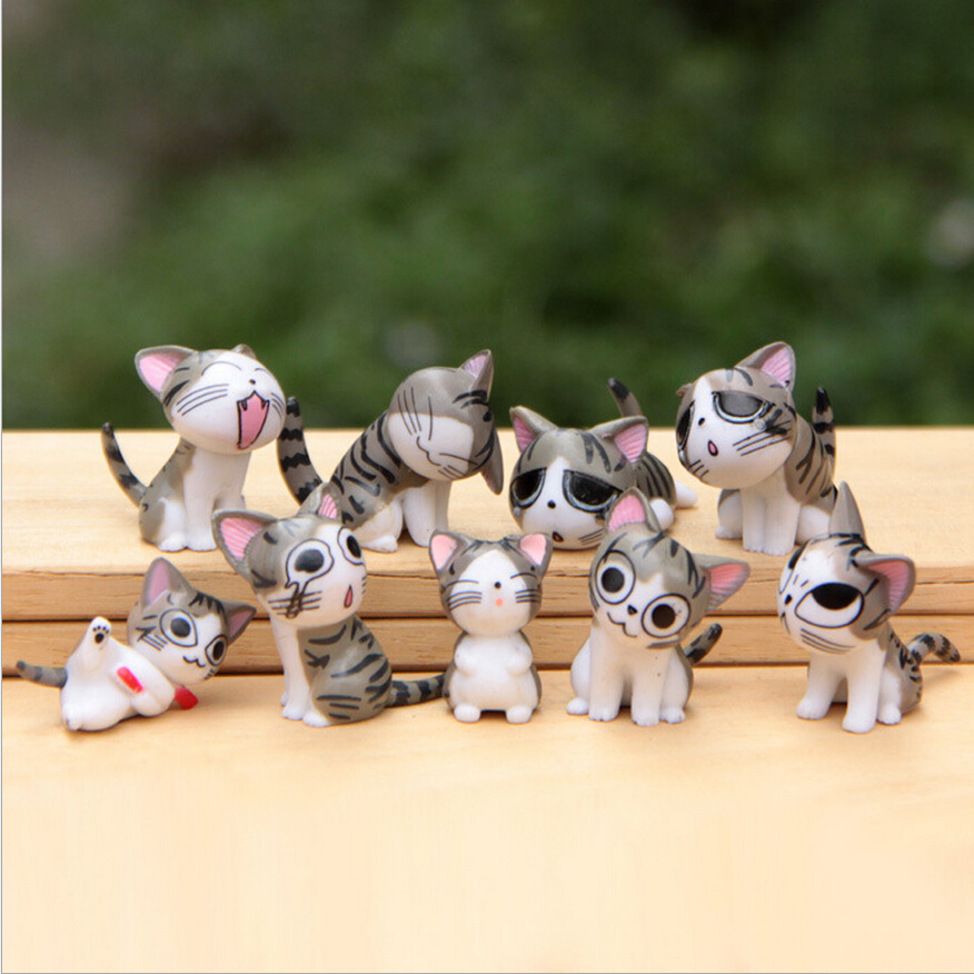 9pcs/set  Chi's Sweet Home Cat Cats Figures Animal Decoration Action Figures Collection Model Toys 3-4cm Cute Mini toys WX114