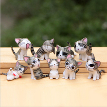 9pcs/set  Chis Sweet Home Cat Cats Figures Animal Decoration Action Collection Model Toys 3-4cm Cute Mini toys WX114