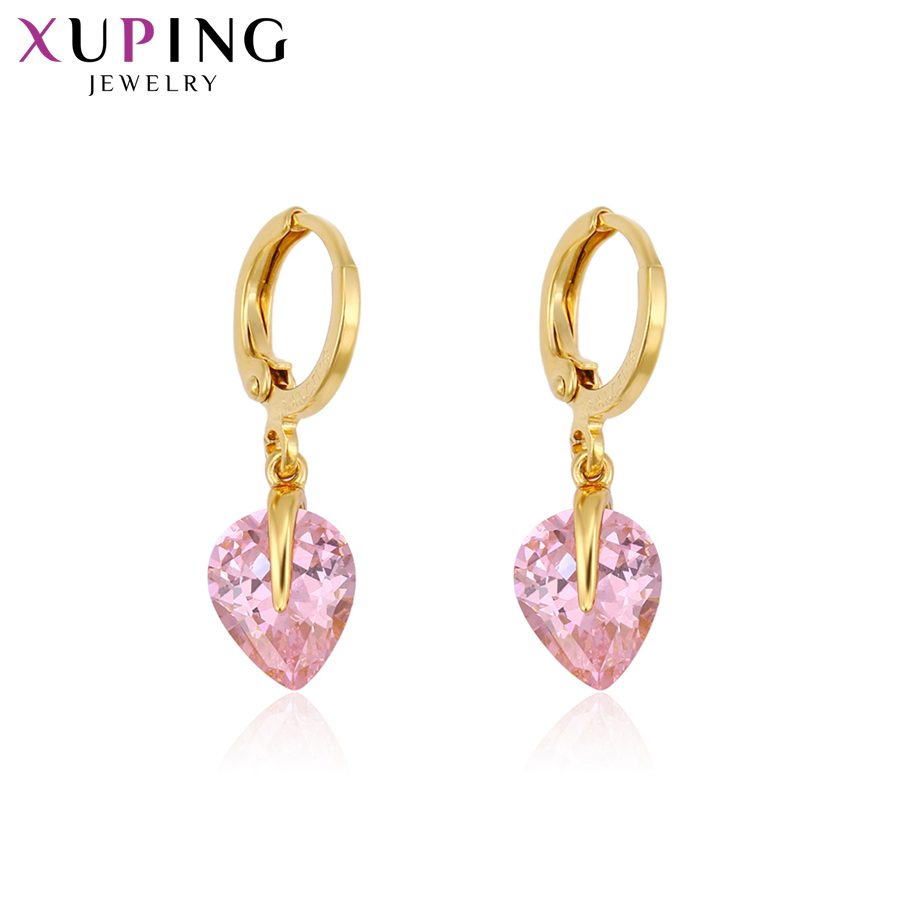 11.11 Xuping Fashion Elegant Earrings Charm Style Pure Gold Color Plated Eardrops for Women Jewelry Thanksgiving Gift S78-94580 punk style pure color hollow out ring for women