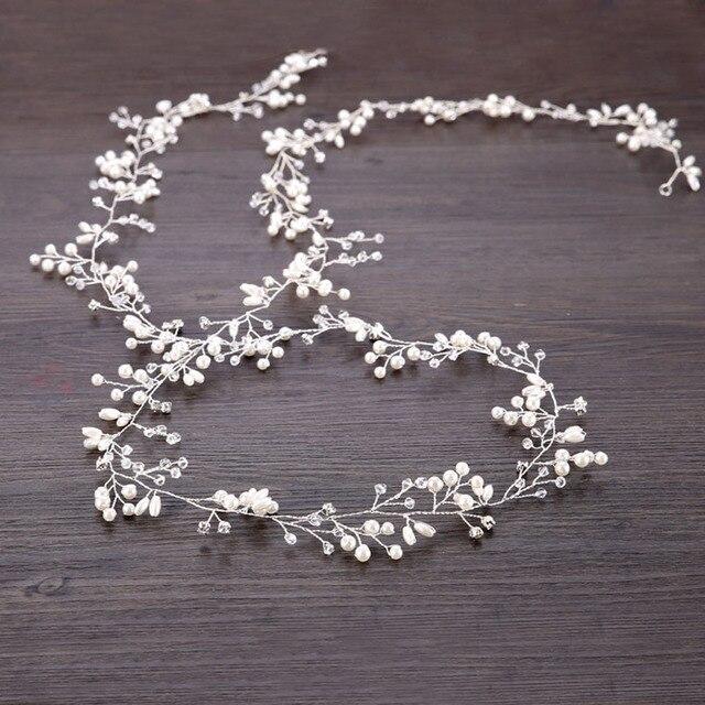 Fashion Flower Vine Tiara Bride Head Chain Bridal Headbands Hair Ornaments Wedding Hair Accessories Jewelry Women SP0127