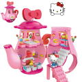 Plastic Pink Teapot For Hello Kitty Building Blocks For Girls Educational Toy Minifigure Action Figures Model Original Box