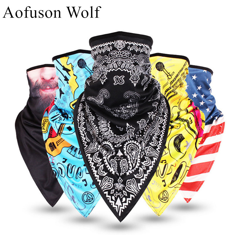 3D Printed Triangular Bibs Mask Skiing Mask Snowboarding Windproof Cycling Hiking Motorcycle Riding Bicycle Funny Grimace Scarf