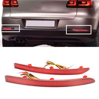 For Volkswagen Tiguan 2007 2011 2012 2013 2014 2015 2016 2PCS LED Rear bumper Tail Fog lamp lights assembly with turn signals